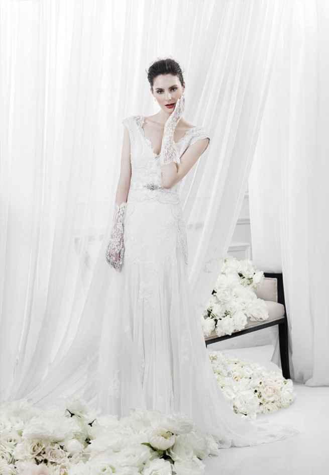 Annasul y. wedding dress rich lace detail v-neck