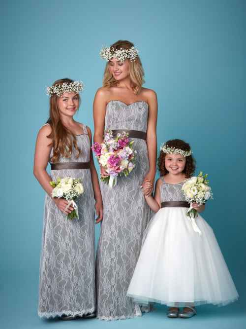 Amanda Wyatt 2257 bridesmaid dress and flowergirl dress