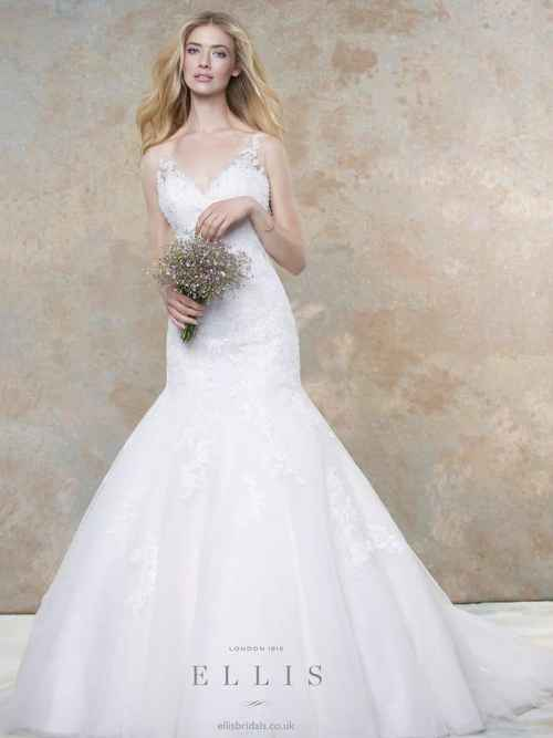 Ellis Bridal v-neck wedding dress