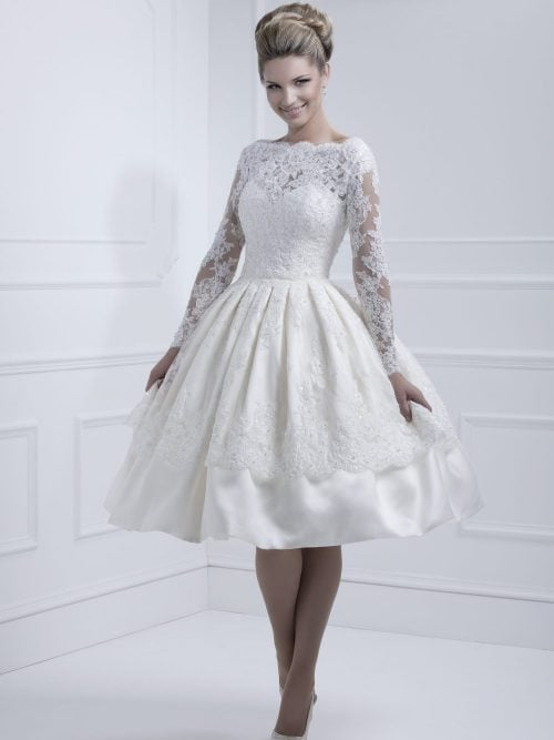 Ellis 11317, wedding dress, Tea dress