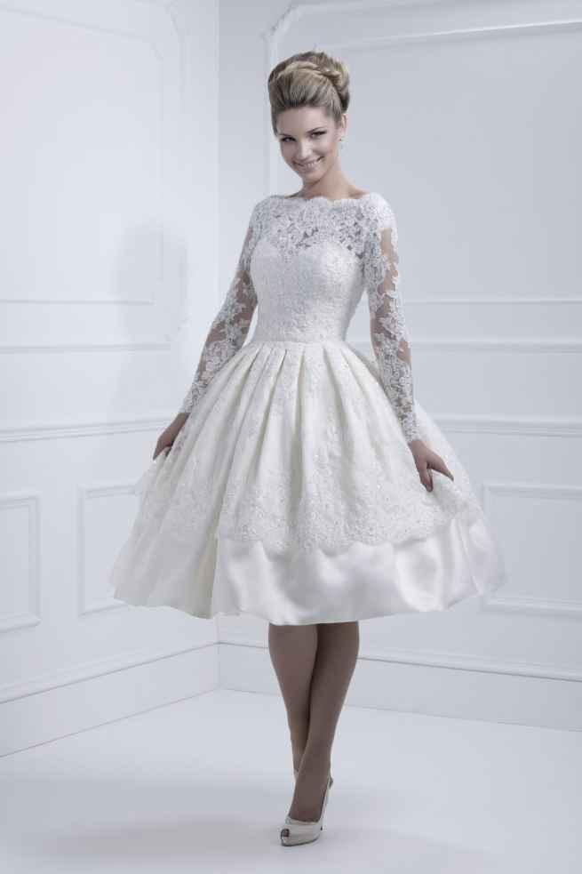 Ellis 11317, wedding dress, Tea dress