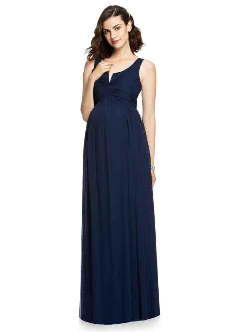 Dessy M424 maternity bridesmaid dress