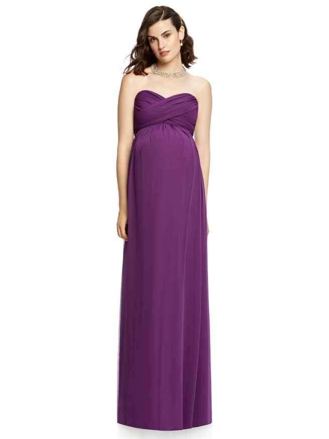 Dessy M426 maternity bridesmaid dress