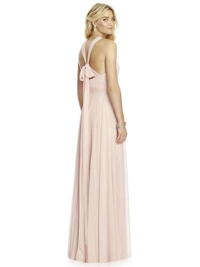 Dessy 6760 bridesmaid dress rear, Sass & Grace Bridal Boutique