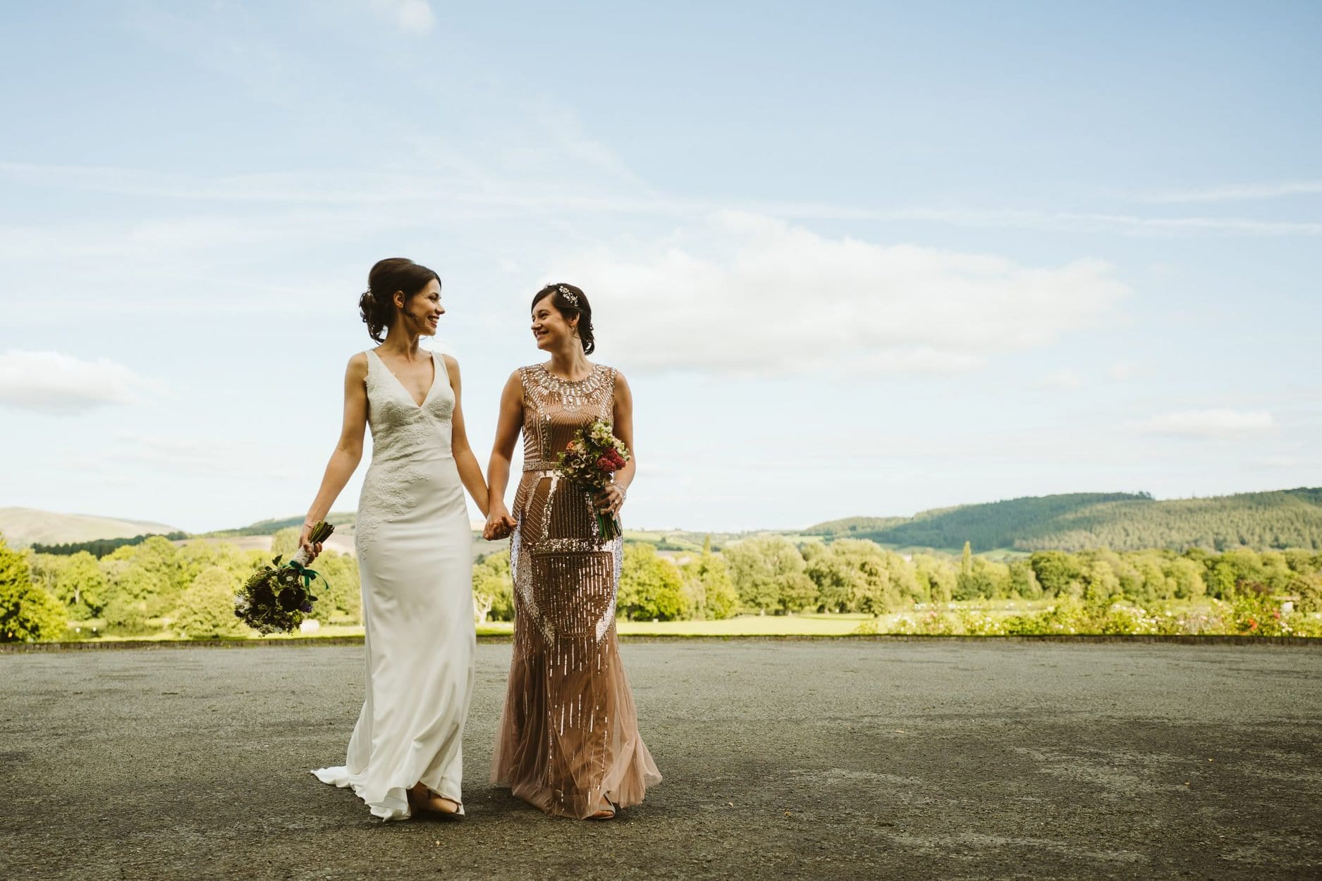 Samantha and lauren 39 s wedding sass and grace for Wedding dress shops reading