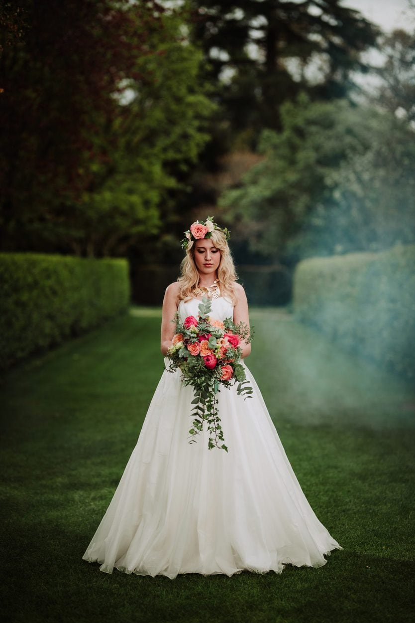 Modern Romantic Bride at Larmer Tree - Sass and Grace Bridal Boutique