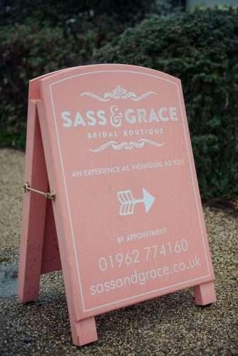 parking at Sass & Grace