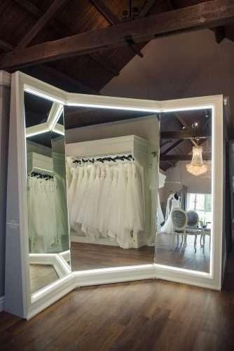 custom made mirror at Sass & Grace