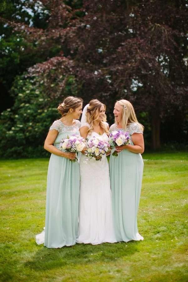 Bride in Ellis Bridals with Bridesmaids
