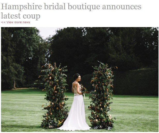 Your Hampshire & Dorset Wedding Headline
