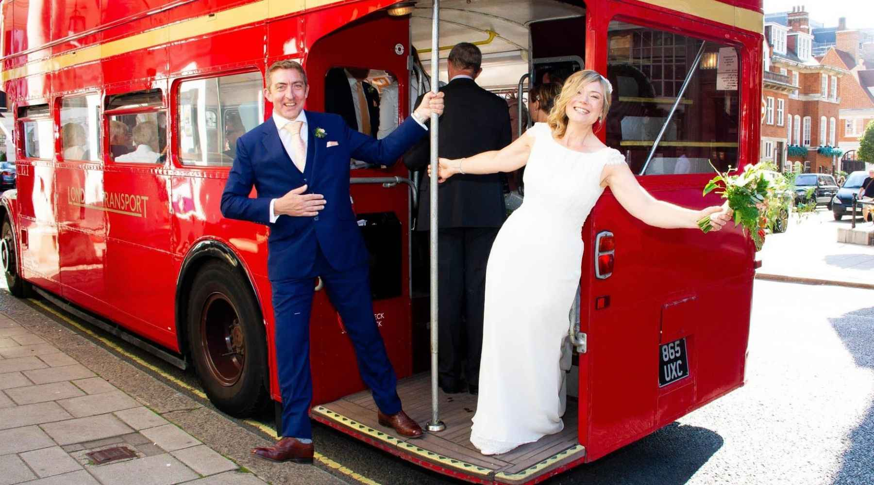 London Wedding with red bus, sass and grace real bride
