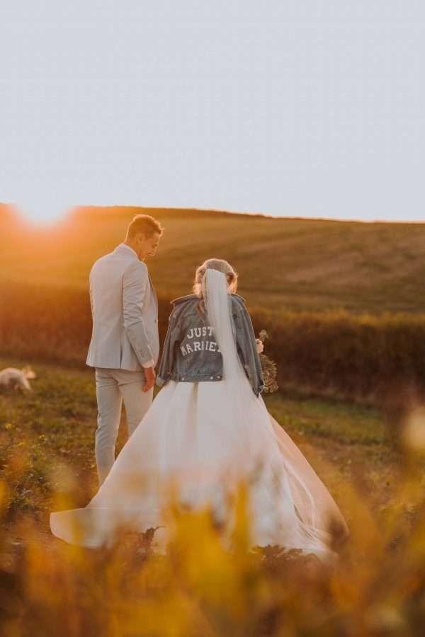 Wedding day sunset