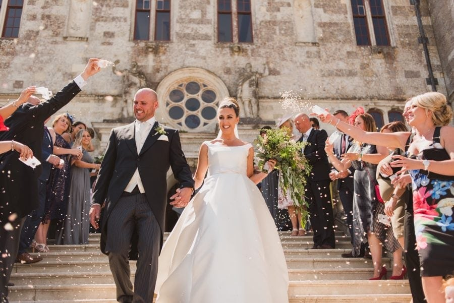 castle wedding in a ball gown