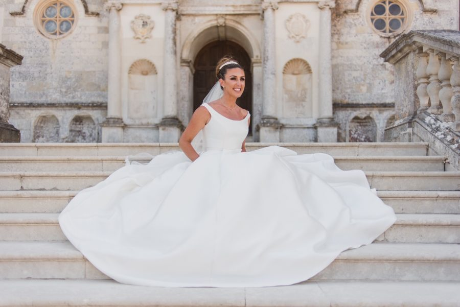 Charlotte marries in ball gown dress