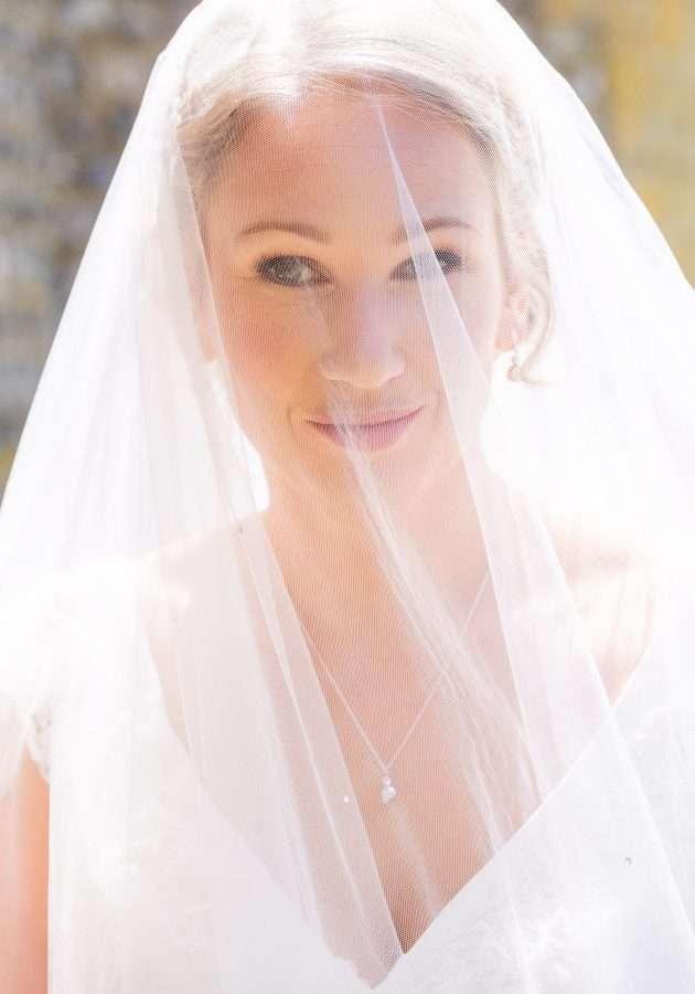 beautiful bride at Avington Park