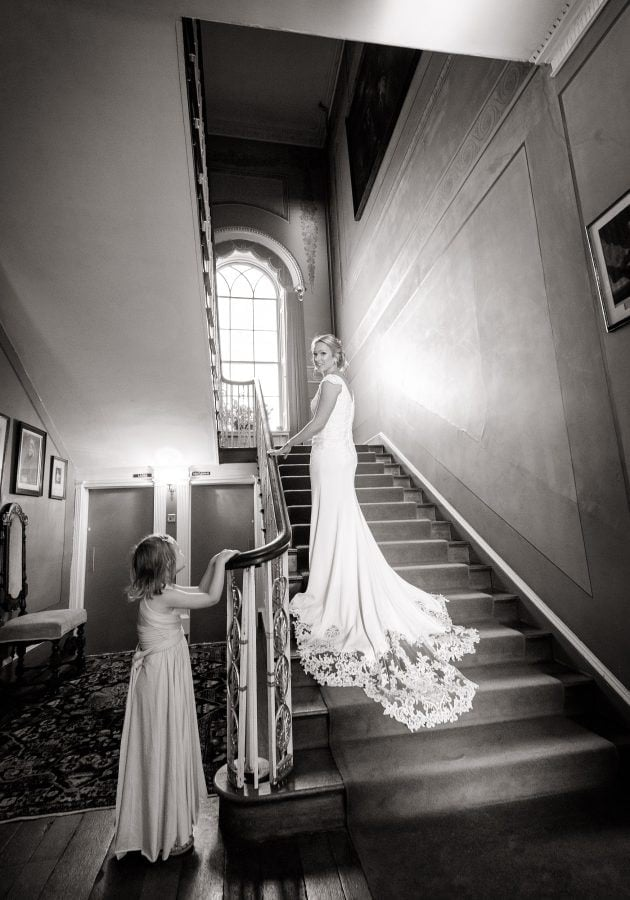 Bride wears dress from Sass and Grace