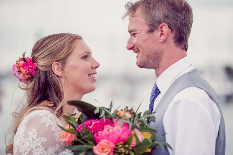 Bride wears Cymbeline