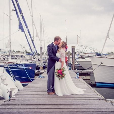 Nautical wedding at Lymington Yacht Club