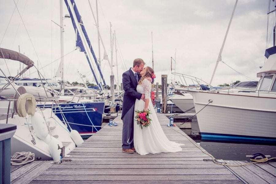 Nautical wedding at Lymington Yacht Club