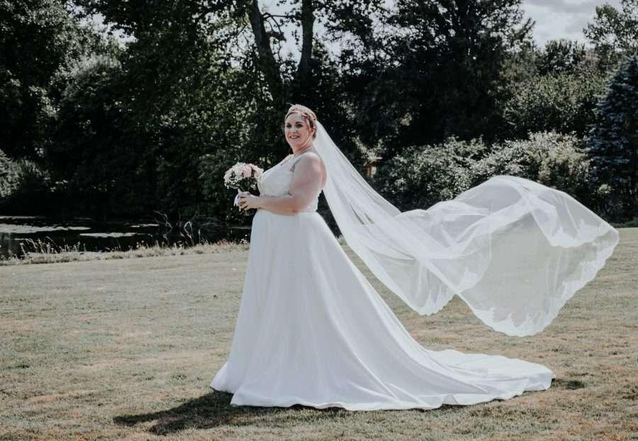 Beautiful bride in Jasmine Couture