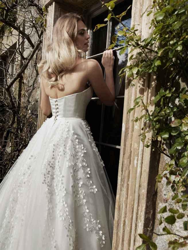 Lyn Ashworth Flora Wedding dress ball gown back detail