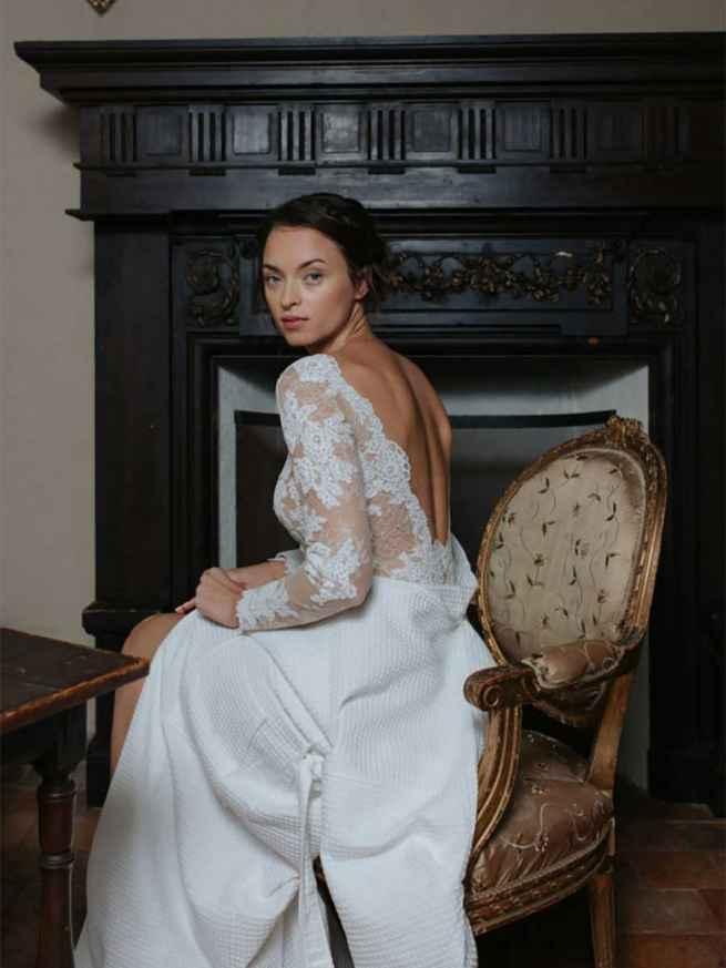Cymbeline Combination Body Indigo Back Wedding Dress