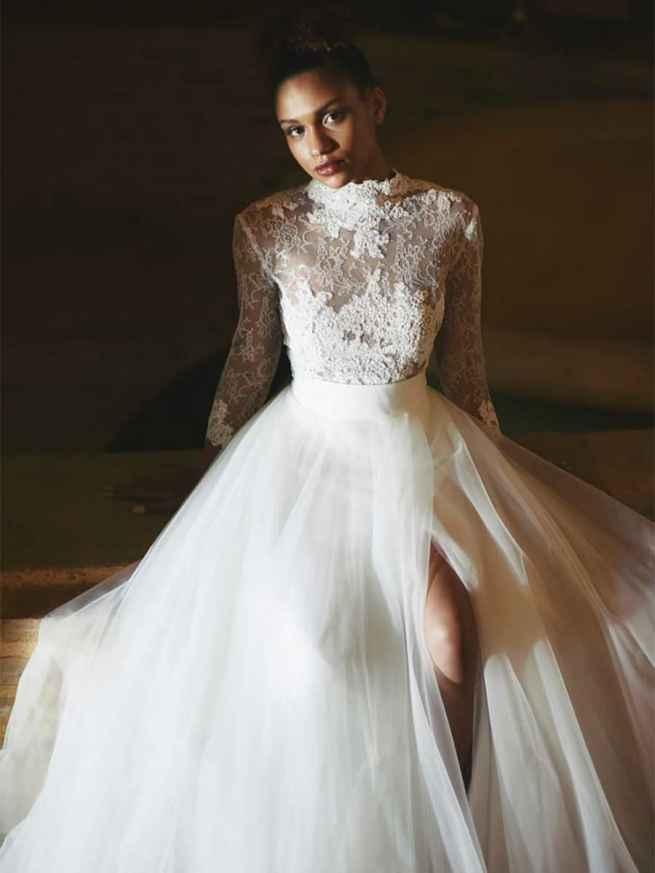 Cymbeline Combination Impulsion Jupe Inji Front Wedding Dress