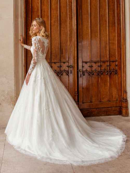 Ellis Bridals Celeste Back Wedding Dress