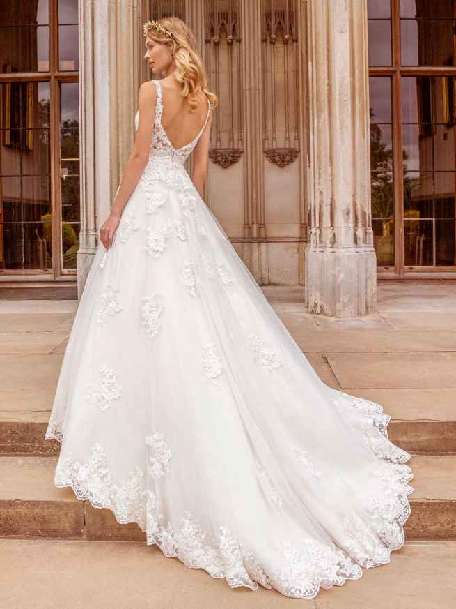 Ellis Bridals Charlotte Back Wedding Dress