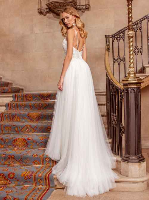 Ellis Bridals Sassi Back Wedding Dress