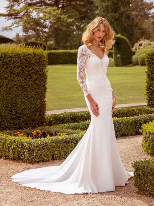 Ellis Bridals Sophia Front Wedding Dress