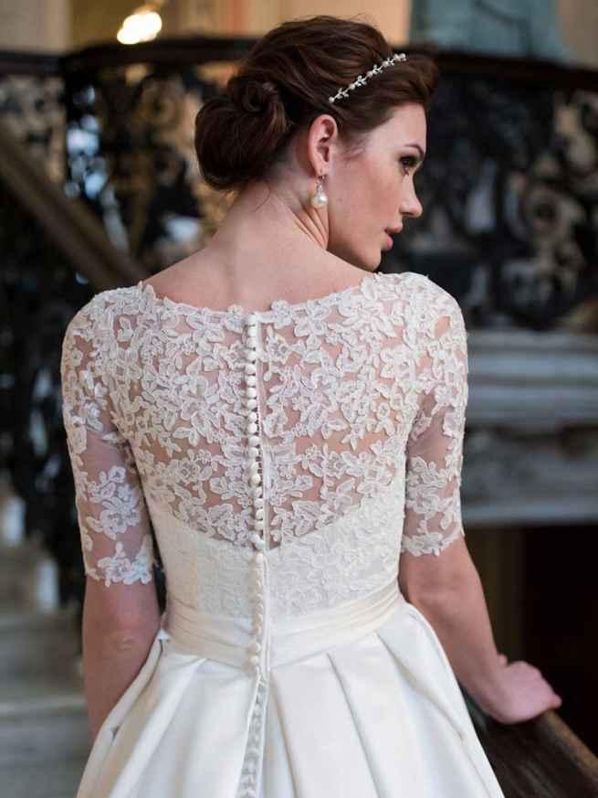 Ellis Bridals Tiffany Back Wedding Dress