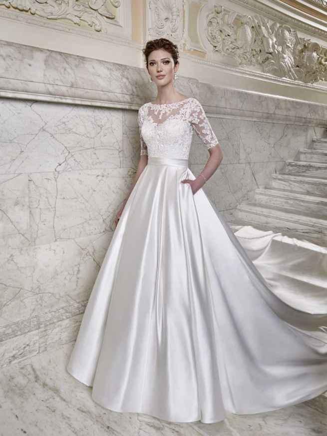 Ellis Bridals Tiffany Front Wedding Dress