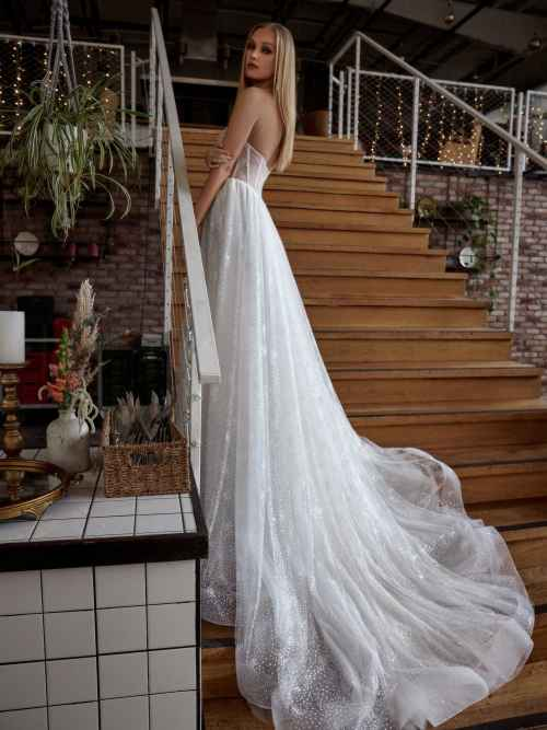 Julie Vino April MB21-9 Back Wedding Dress