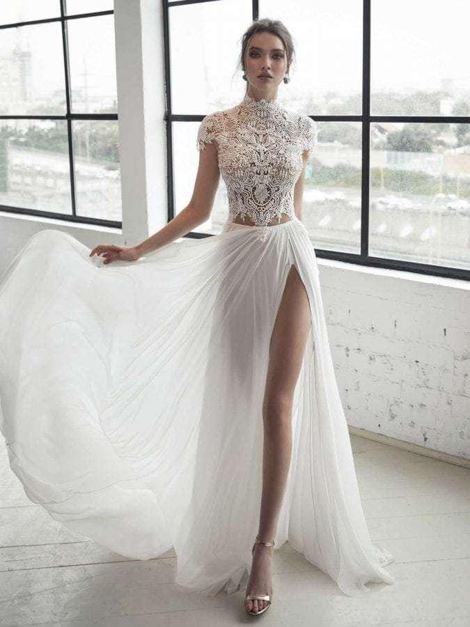 Julie Vino Blanche 1558 Front Wedding Dress