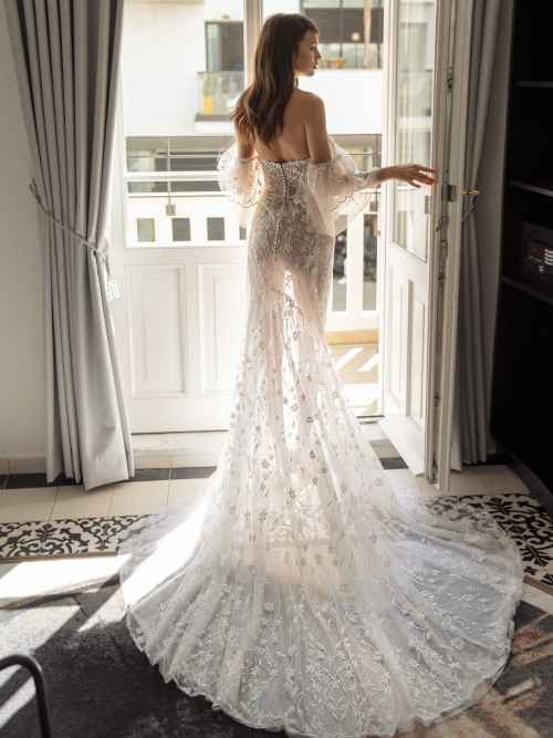 Julie Vino Kim 1756 Back Wedding Dress