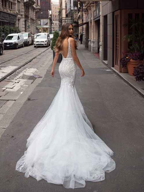 Julie Vino Zoe 1861 Back Wedding Dress