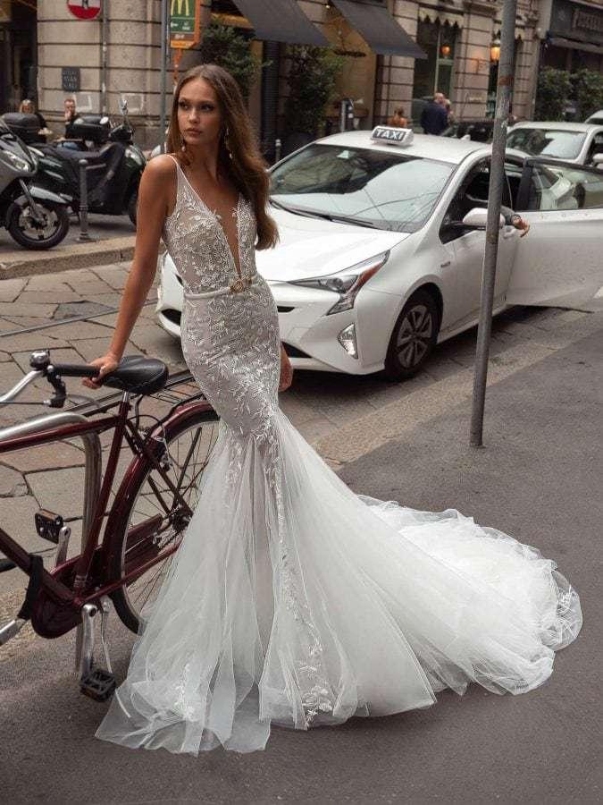 Julie Vino Zoe 1861 Front Wedding Dress