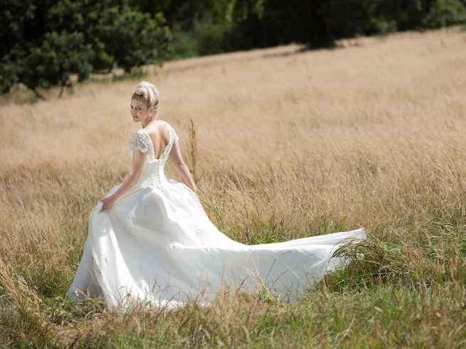Beloved by Lyn Ashworth ball gown wedding dress, dropped waist beaded bodice, delicate sparkle and a beautiful billowing skirt