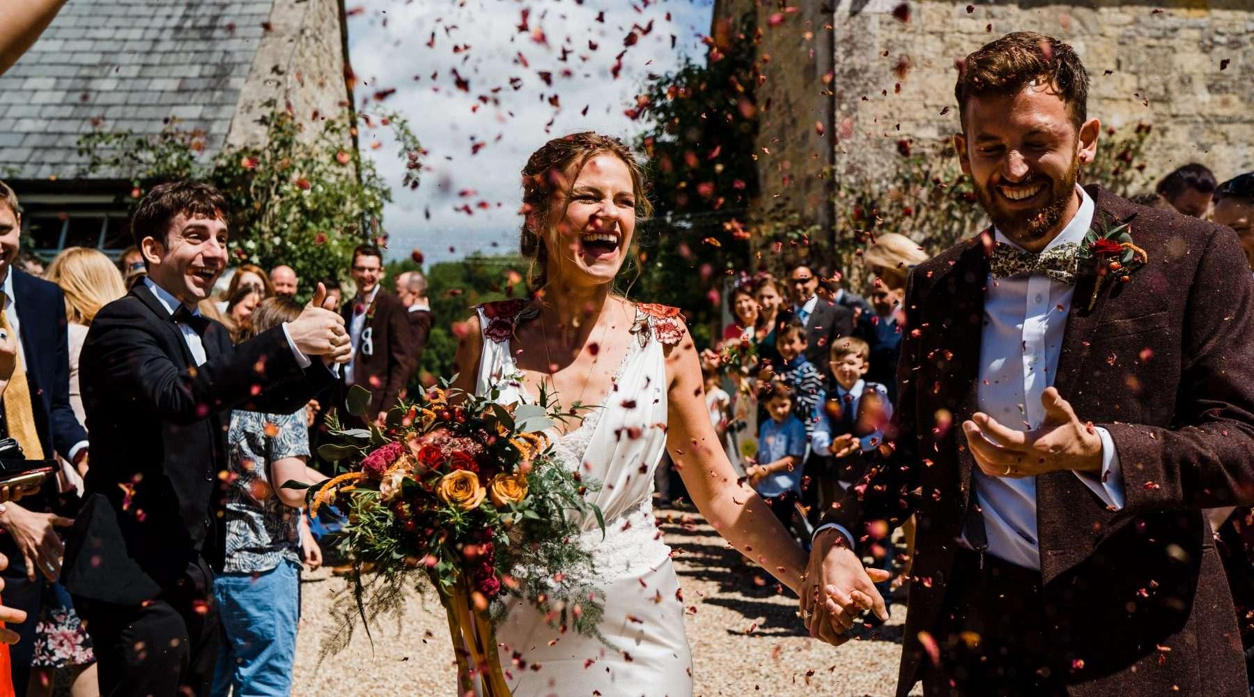 Jo marries in a bespoke Annasul Y wedding dress