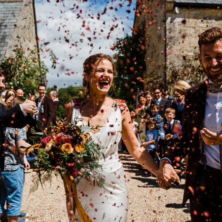 Jo marries in a bespoke Annasul Y wedding dress