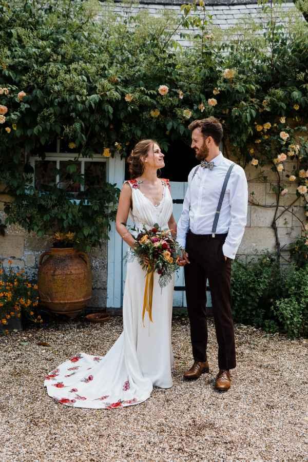 Jo marries Matt in a bespoke Annasul Y wedding dress