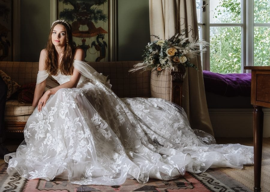 Styled Shoot for a Micro Wedding at The Grange Hampshire with a Julie Vino Wedding Dress