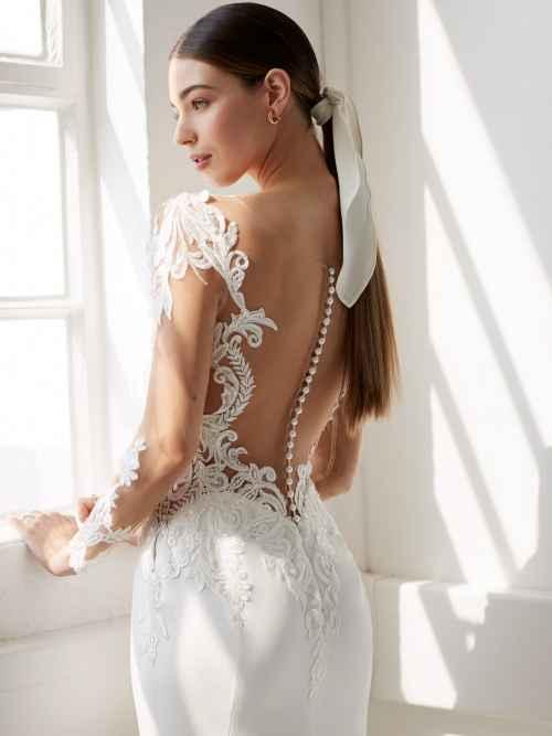 Ellis Bridals Mauve 18131 Back Wedding Dress Sass and Grace Bridal
