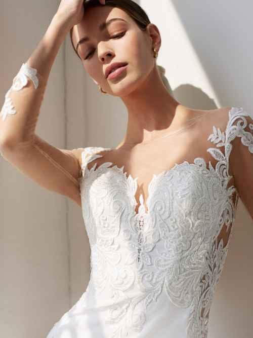 Ellis Bridals Mauve 18131 Front Wedding Dress Sass and Grace Bridal