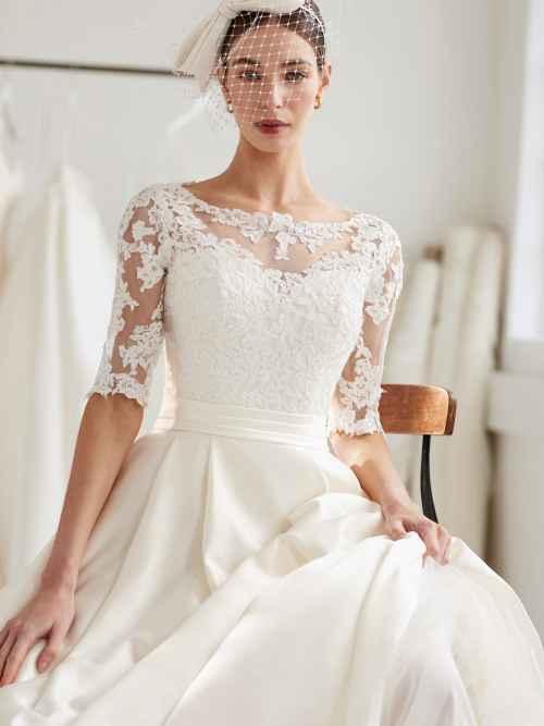 Ellis Bridals Tiffany 16002 Front Wedding Dress Sass and Grace Bridal