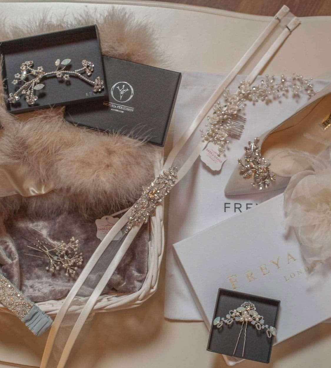 Accessories at Sass & Grace Bridal Boutique Shop