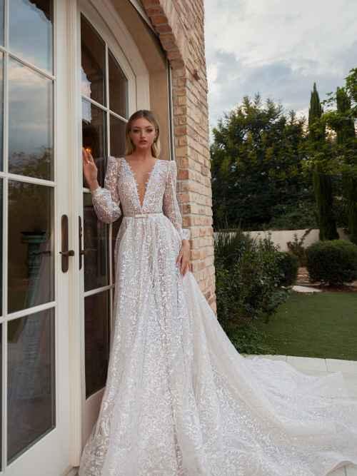 Julie Vino Rose 2051 Front Wedding Dress